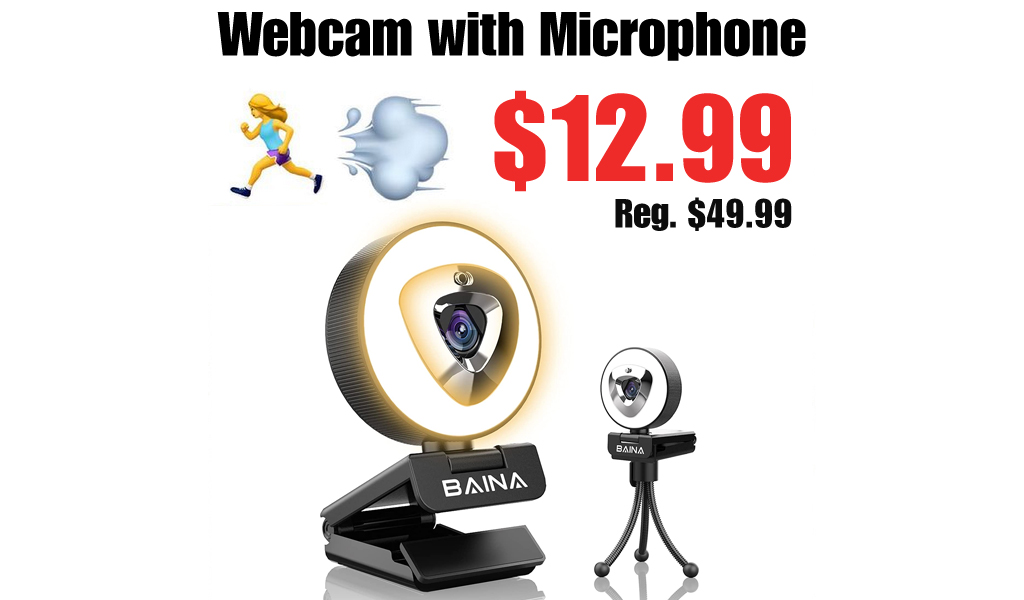 Webcam with Microphone Only $12.99 Shipped on Amazon (Regularly $49.99)