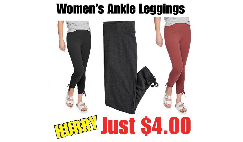 Women's Ankle Leggings from $4.00 on Kohls.com (Regularly $20)