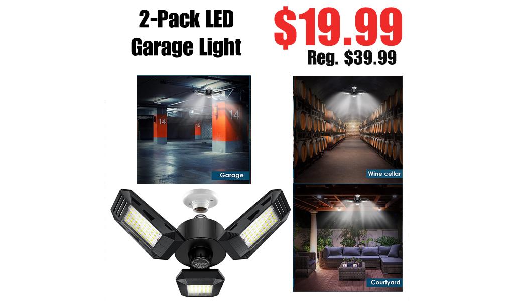 2-Pack LED Garage Light Only $19.99 Shipped on Amazon (Regularly $39.99)