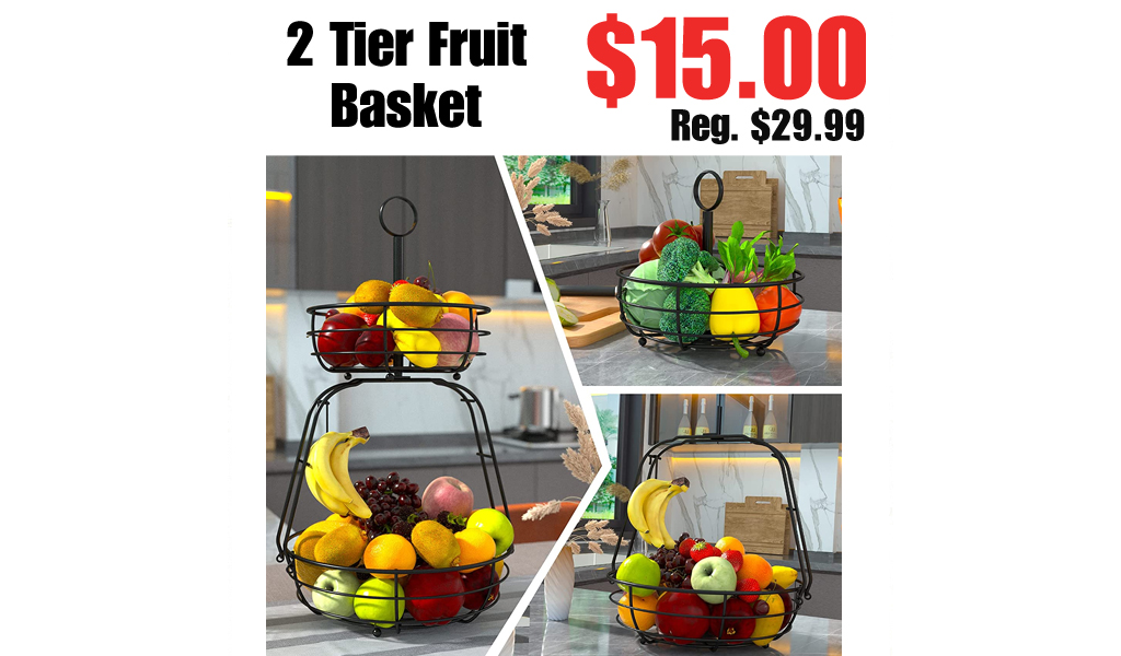 2 Tier Fruit Basket Only $15.00 Shipped on Amazon (Regularly $29.99)