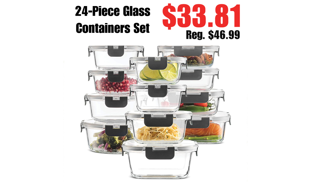 24-Piece Glass Containers Set Only $33.81 Shipped on Amazon (Regularly $46.99)