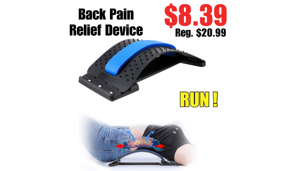 Back Pain Relief Device Only $8.39 Shipped on Amazon (Regularly $20.99)