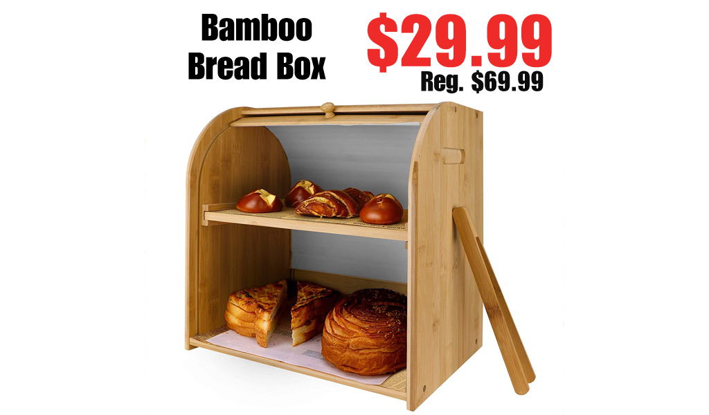 Bamboo Bread Box Only $29.99 Shipped on Amazon (Regularly $69.99)