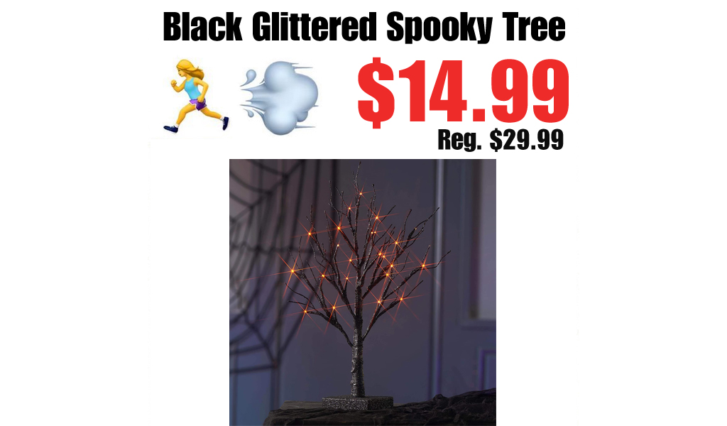 Black Glittered Spooky Tree Only $14.99 Shipped on Amazon (Regularly $29.99)