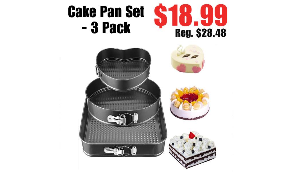 Cake Pan Set - 3 Pack Just $18.99 on Walmart.com (Regularly $28.48)