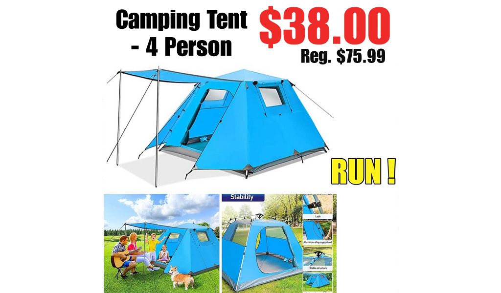 Camping Tent - 4 Person Only $38.00 Shipped on Amazon (Regularly $75.99)