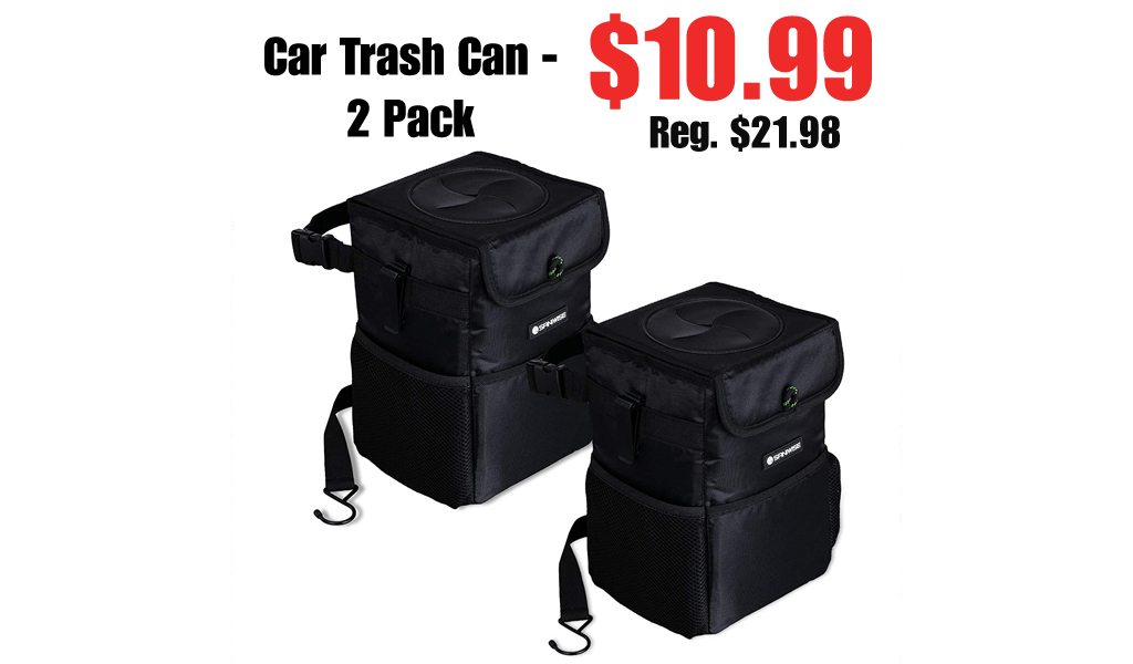 Car Trash Can - 2 Pack Only $10.99 Shipped on Amazon (Regularly $21.98)