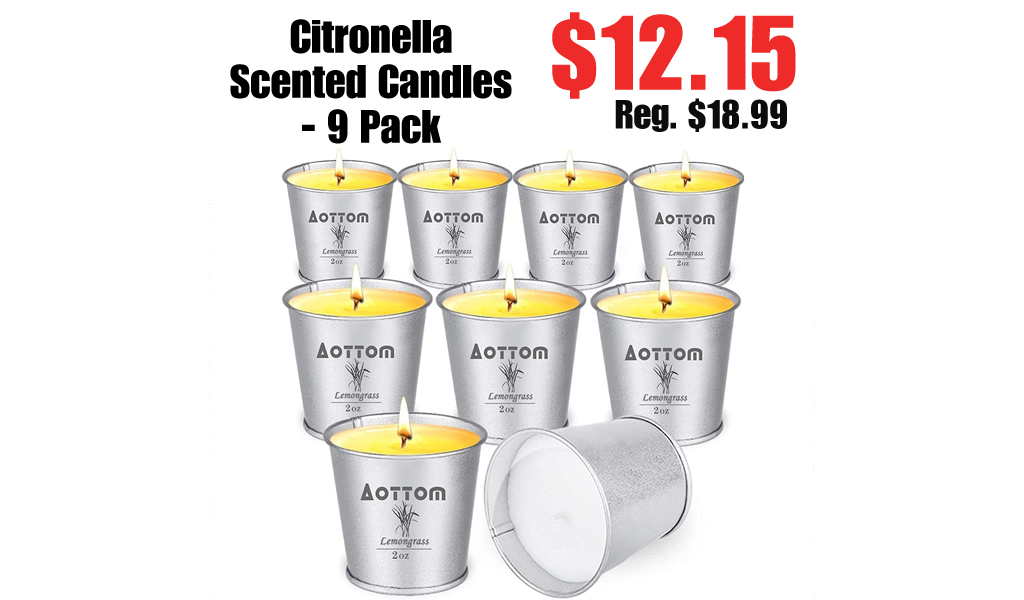 Citronella Scented Candles - 9 Pack Only $12.15 Shipped on Amazon (Regularly $18.99)