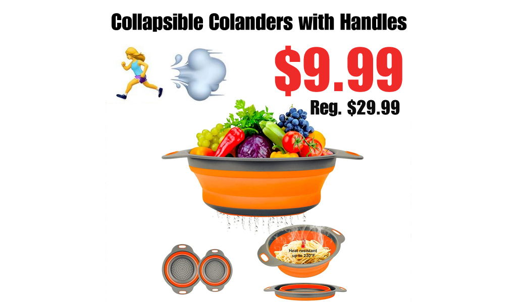 Collapsible Colanders with Handles Only $9.99 Shipped on Amazon (Regularly $29.99)
