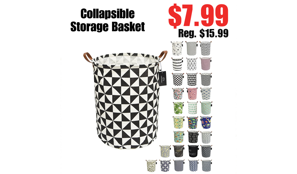 Collapsible Storage Basket Only $7.99 Shipped on Amazon (Regularly $15.99)