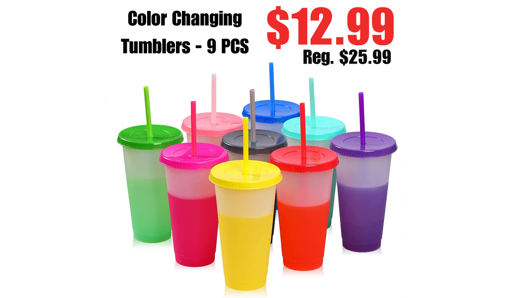 Color Changing Tumblers - 9 PCS Only $12.99 Shipped on Amazon (Regularly $25.99)