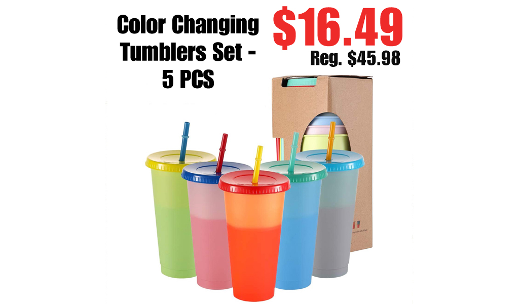 Color Changing Tumblers Set - 5 PCS Only $16.49 Shipped on Walmart.com (Regularly $45.98)