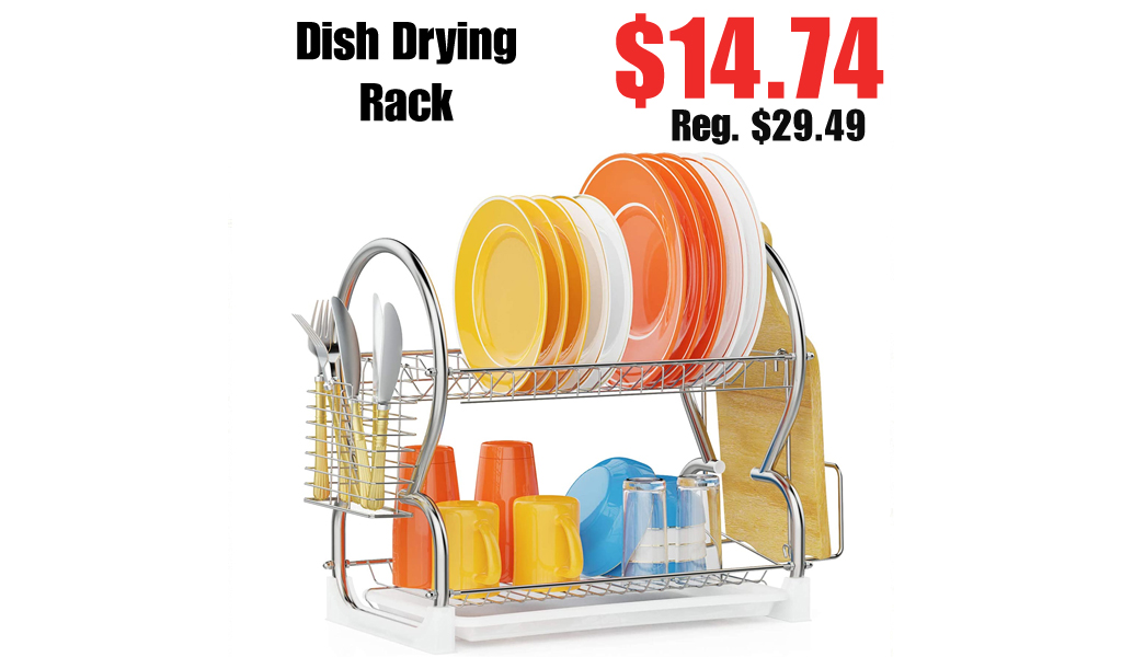 Dish Drying Rack Only $14.74 Shipped on Amazon (Regularly $29.49)