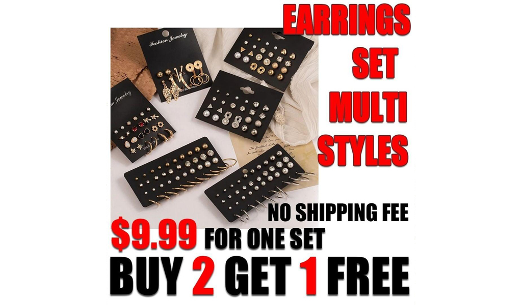 EARRING set with multi styles
