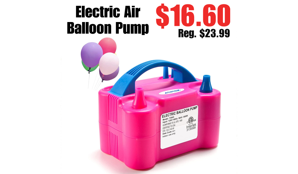 Electric Air Balloon Pump Only $16.60 Shipped on Amazon (Regularly $23.99)