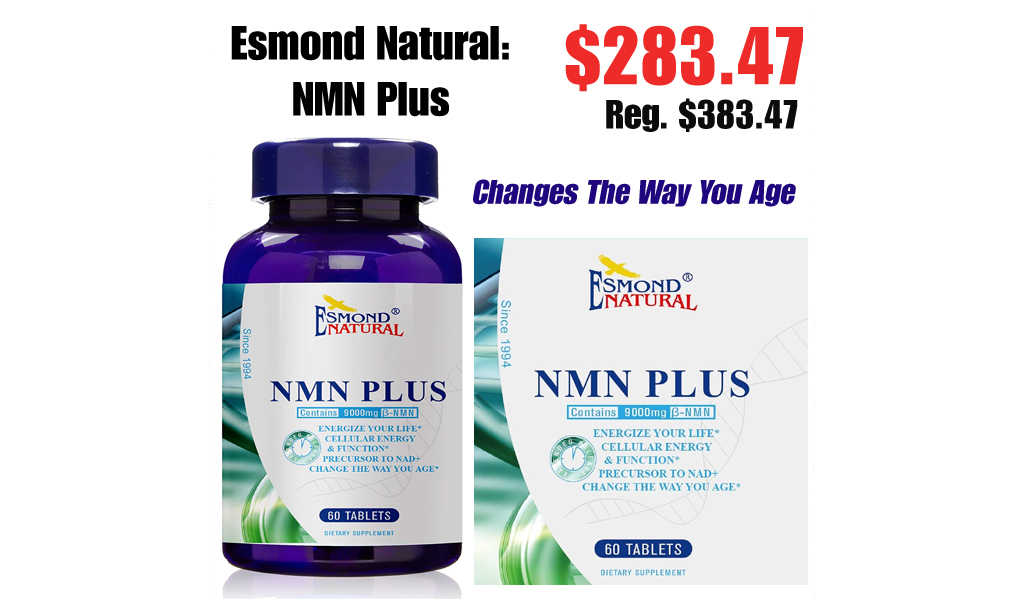 Esmond Natural: NMN Plus Only $283.47 Shipped on Amazon (Regularly $383.47)