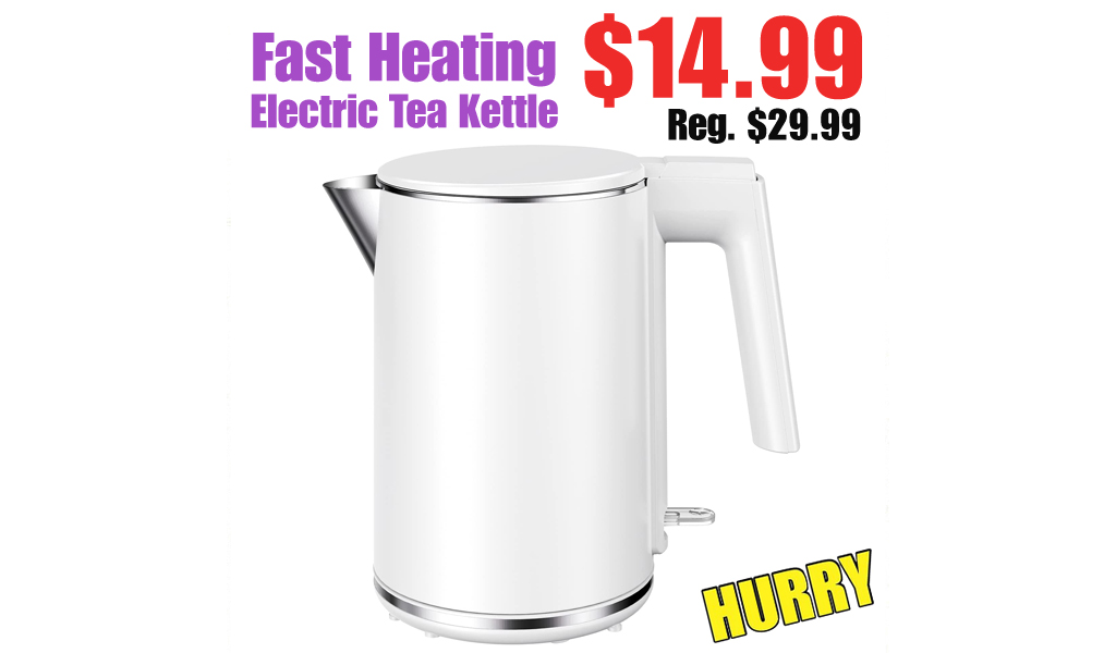 Fast Heating Electric Tea Kettle Only $14.99 Shipped on Amazon (Regularly $29.99)