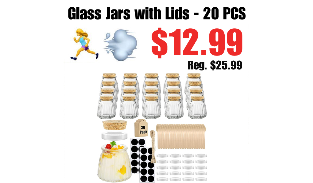 Glass Jars with Lids - 20 PCS Only $12.99 Shipped on Amazon (Regularly $25.99)