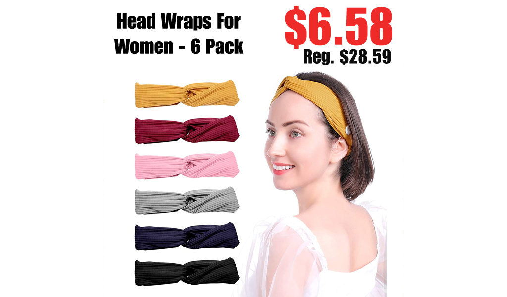 Head Wraps For Women - 6 Pack Only $6.58 Shipped on Amazon (Regularly $28.59)