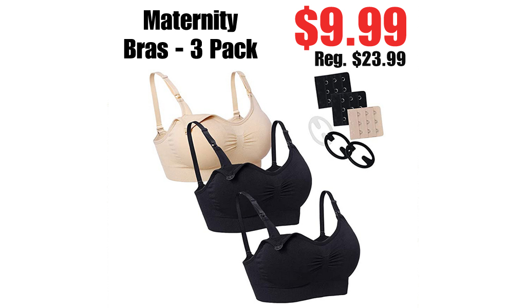 Maternity Bras - 3 Pack Only $9.99 Shipped on Amazon (Regularly $23.99)
