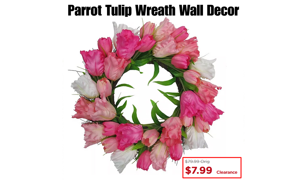 Parrot Tulip Wreath Wall Decor from $7.99 on Kohls.com (Regularly $79.99)