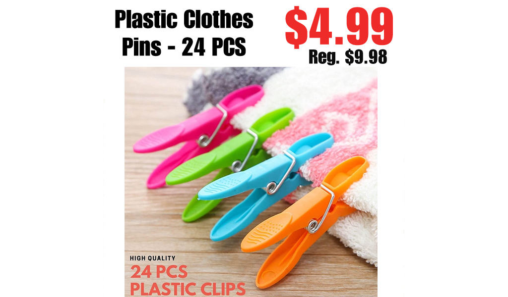Plastic Clothes Pins - 24 PCS Only $4.99 Shipped on Amazon (Regularly $9.98)