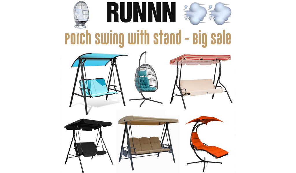 Porch Swing with Stand for Less on Wayfair - Big Sale