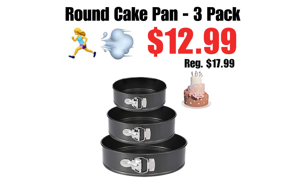 Round Cake Pan - 3 Pack Only $12.99 Shipped on Amazon (Regularly $17.99)