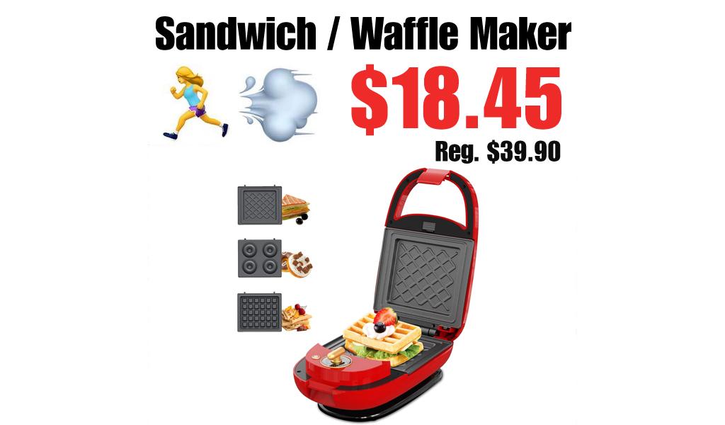 Sandwich / Waffle Maker Only $18.45 Shipped on Amazon (Regularly $39.90)