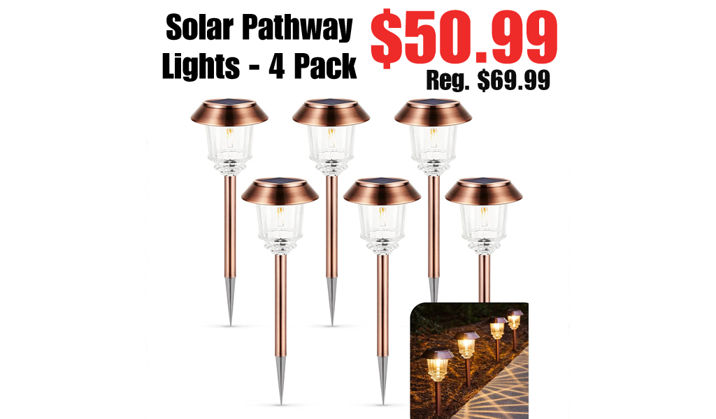 Solar Pathway Lights - 4 Pack Only $50.99 Shipped on Amazon (Regularly $69.99)