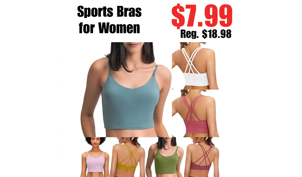 Sports Bras for Women Only $7.99 Shipped on Amazon (Regularly $18.98)