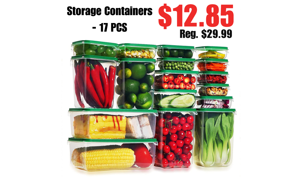 Storage Containers - 17 PCS Only $12.85 Shipped on Amazon (Regularly $29.99)