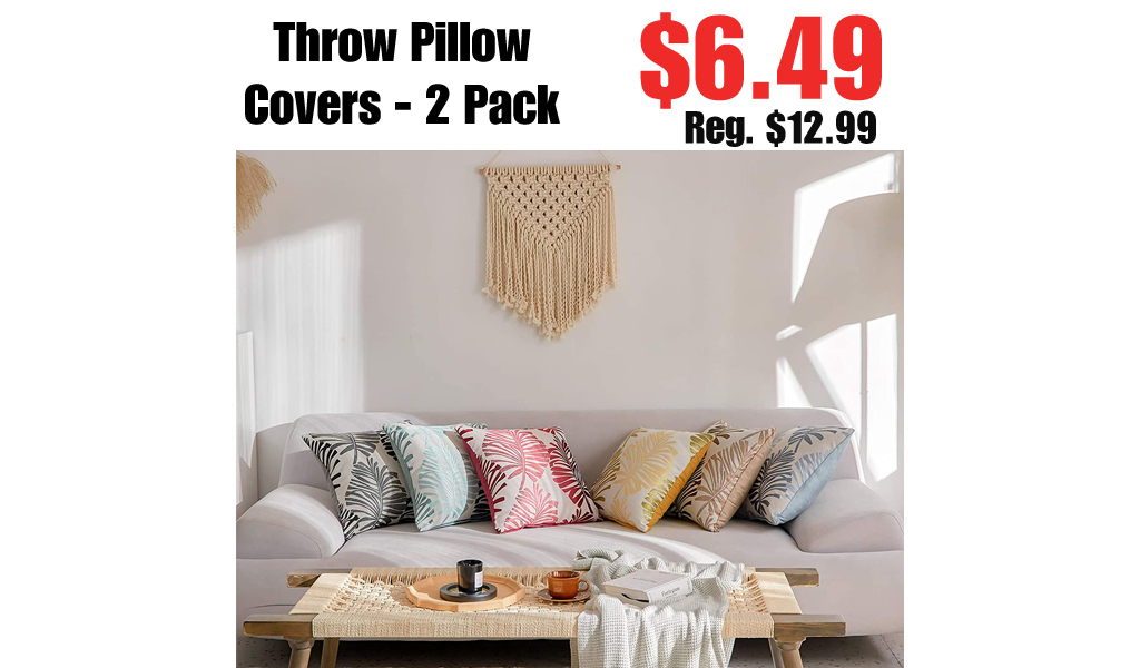 Throw Pillow Covers - 2 Pack Only $6.49 Shipped on Amazon (Regularly $12.99)
