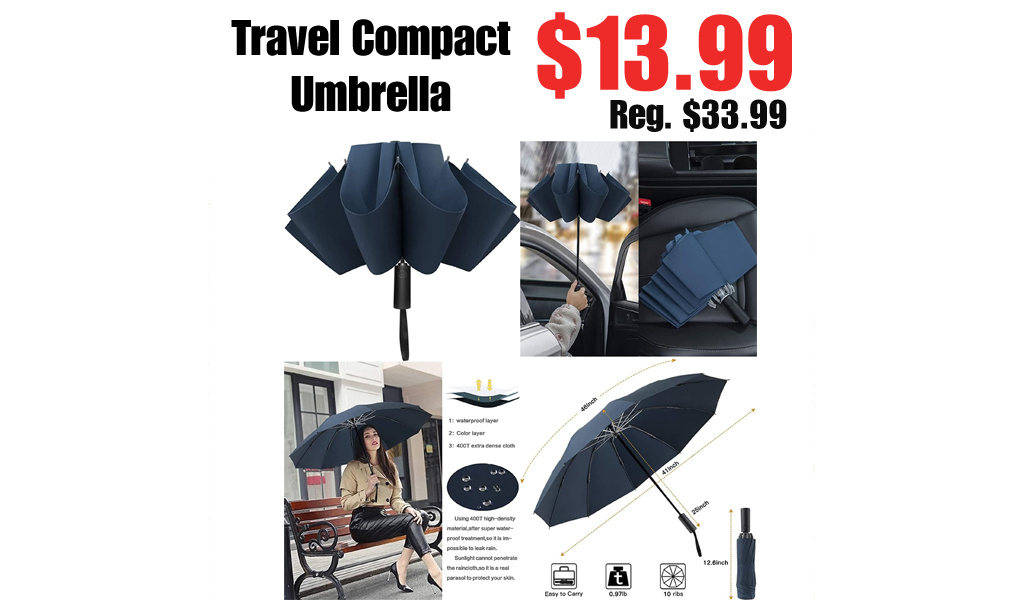 Travel Compact Umbrella Only $13.99 Shipped on Amazon (Regularly $33.99)
