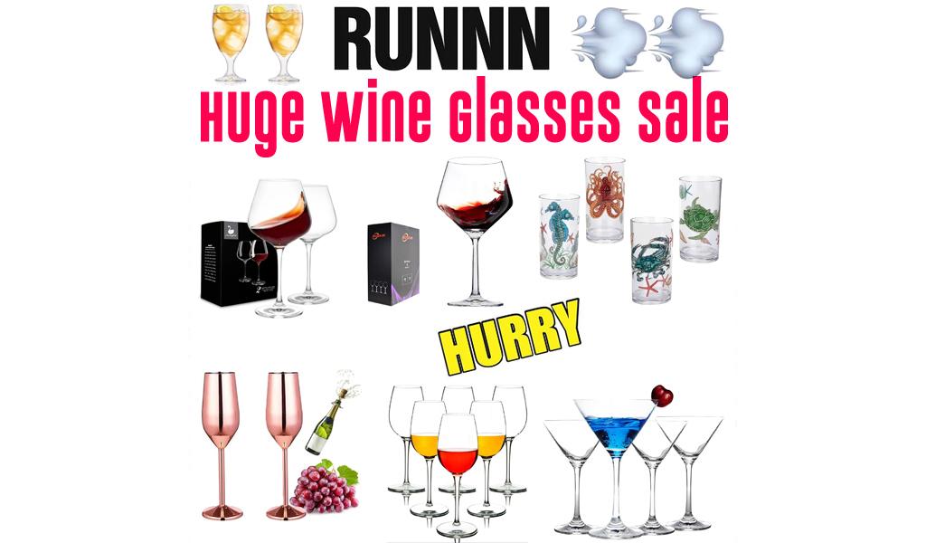 Wine Glasses for Less on Wayfair - Big Sale