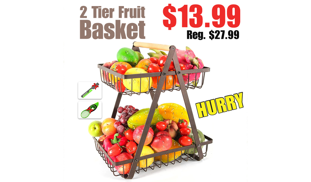 2 Tier Fruit Basket Only $13.99 Shipped on Amazon (Regularly $27.99)