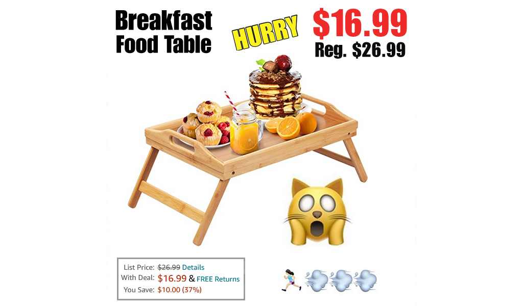 Breakfast Food Table Only $16.99 on Amazon (Regularly $26.99)