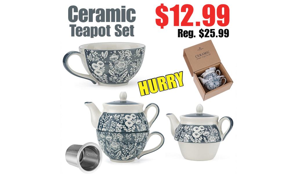 Ceramic Teapot Set Only $12.99 Shipped on Amazon (Regularly $25.99)