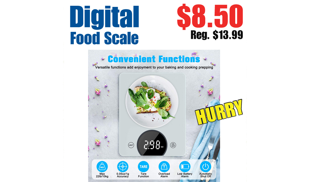 Digital Food Scale Only $8.50 Shipped on Amazon (Regularly $13.99)