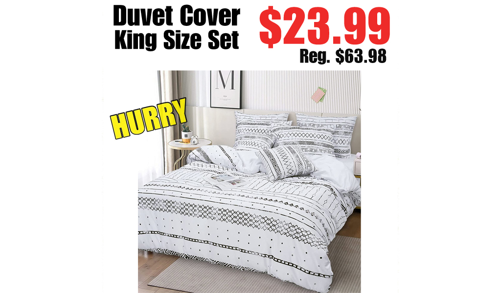Duvet Cover King Size Set Only $23.99 Shipped on Amazon (Regularly $63.98)