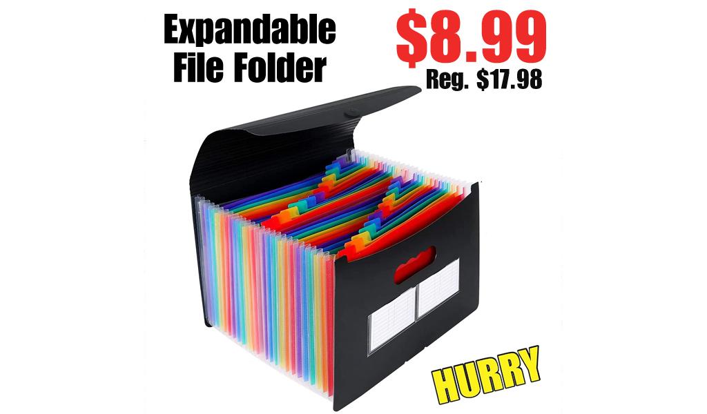 Expandable File Folder Only $8.99 Shipped on Amazon (Regularly $17.98)
