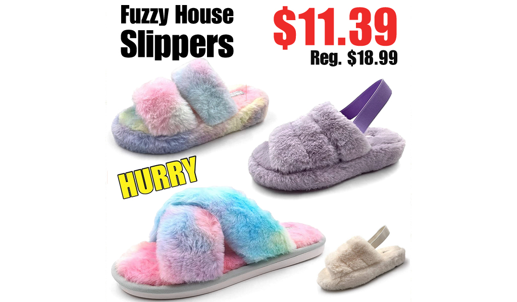 Fuzzy House Slippers Only $11.39 Shipped on Amazon (Regularly $18.99)