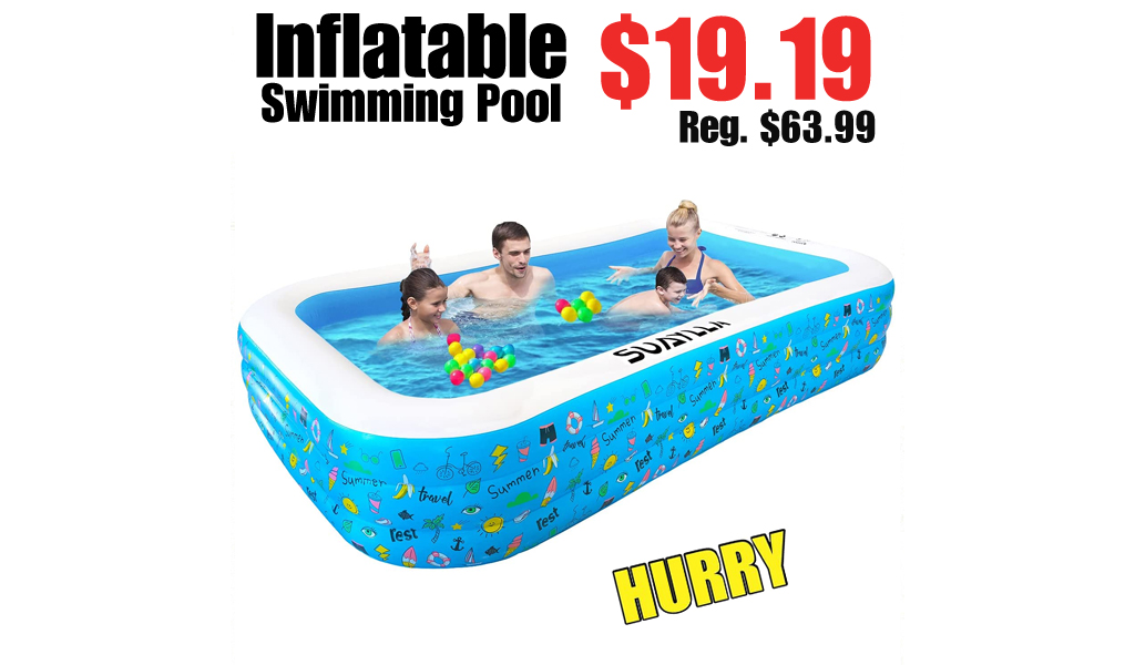Inflatable Swimming Pool Only $19.19 Shipped on Amazon (Regularly $63.99)