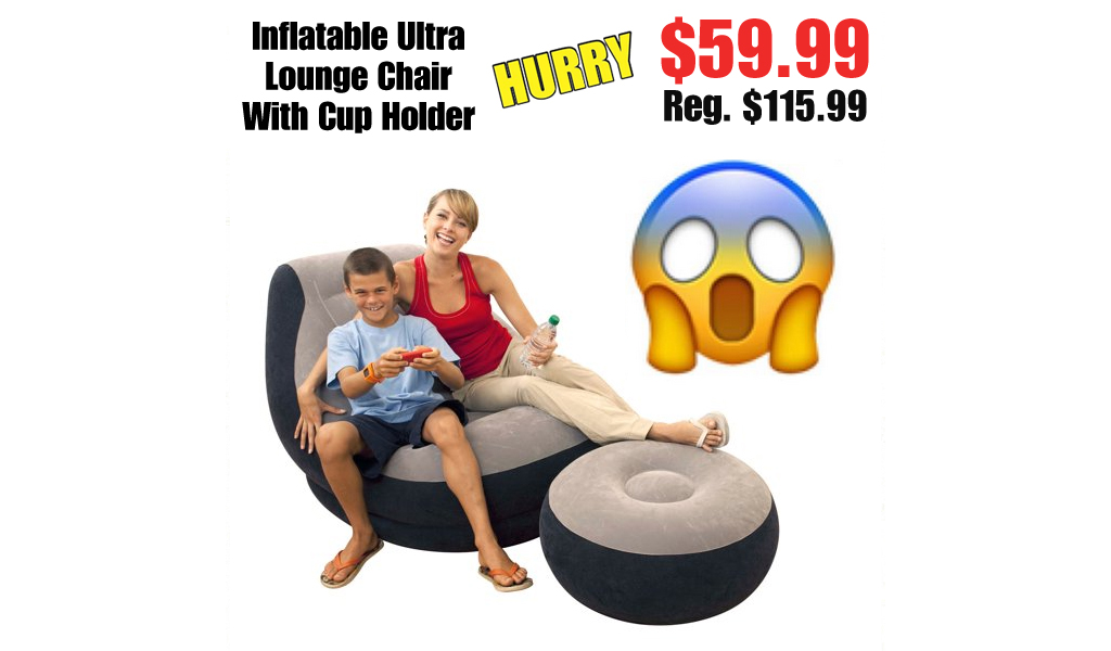 Inflatable Ultra Lounge Chair With Cup Holder Only $59.99 on Walmart.com (Regularly $115.99)