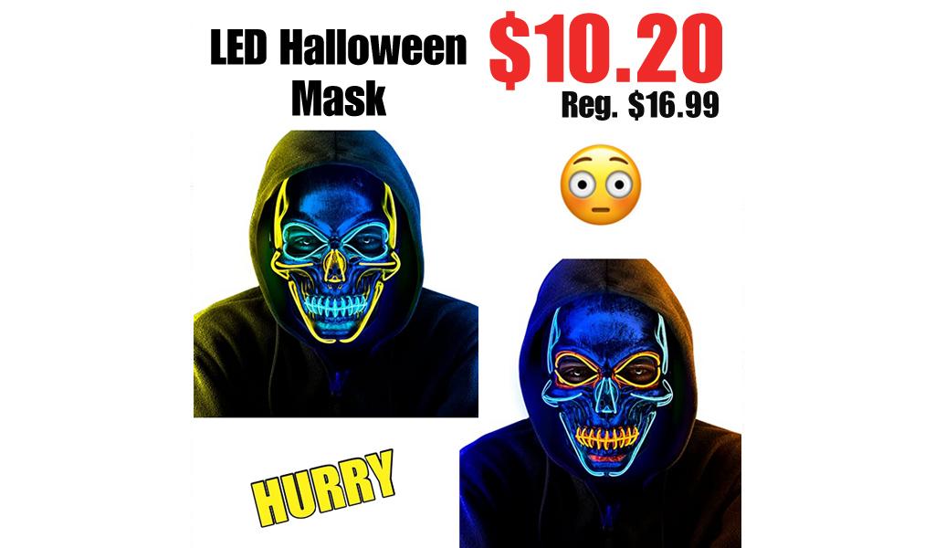 LED Halloween Mask Only $10.20 Shipped on Amazon (Regularly $16.99)