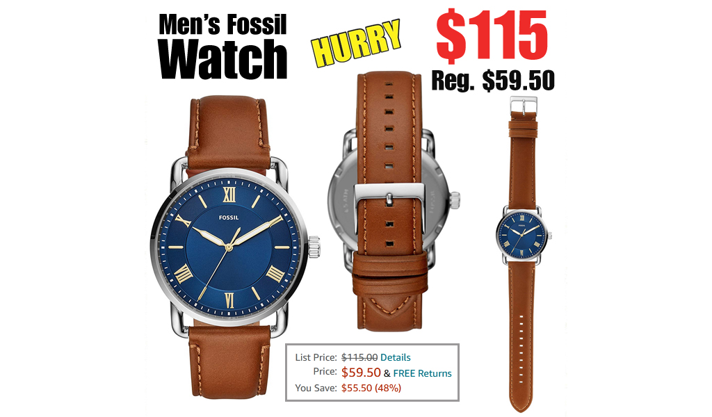 Men's Fossil Watch Only $59.50 on Amazon (Regularly $115)