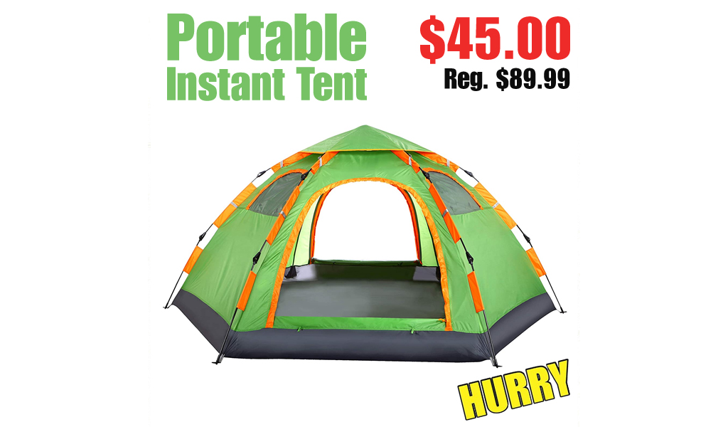 Portable Instant Tent Only $45.00 Shipped on Amazon (Regularly $89.99)