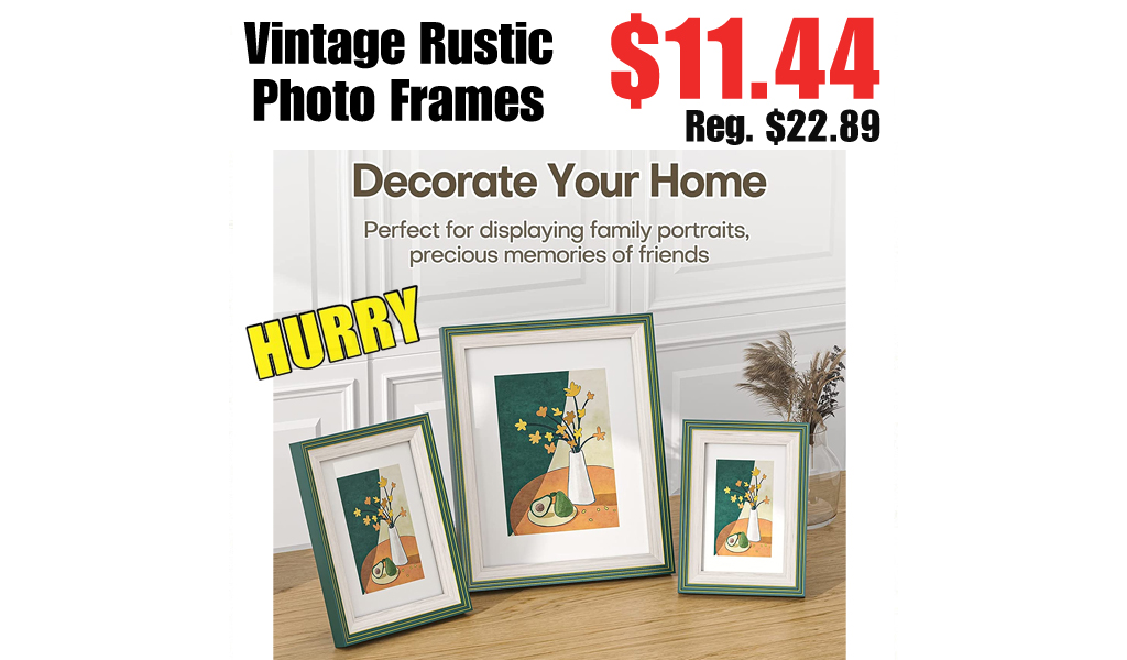 Vintage Rustic Photo Frames Only $11.44 Shipped on Amazon (Regularly $22.89)