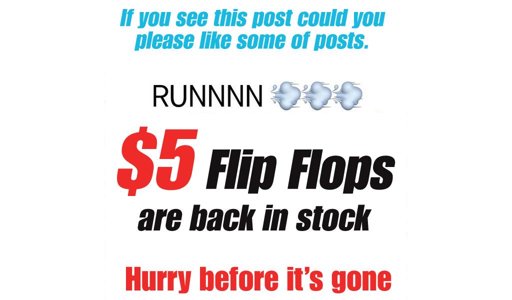Women's Flip Flops - As low as $5.09 - Back In Stock