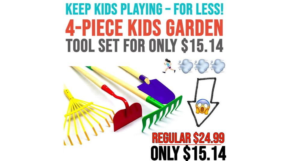 Kids Garden Tool 4-Piece Set Only $15 on Amazon